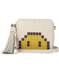 Anya Hindmarch Pixel Smiley Leather Crossbody Bag