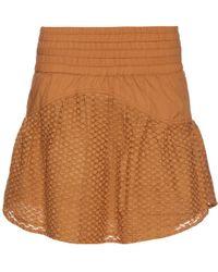 Cecilie Copenhagen - Pico Cotton And Silk-blend Mini Skirt - Lyst