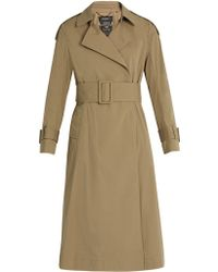 MUVEIL - Pleated-back Cotton-blend Trench Coat - Lyst