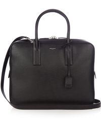 Saint Laurent - Museum Leather Briefcase - Lyst