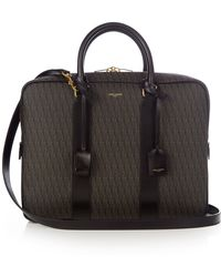 ysl leather bag - Shop Men's Saint Laurent Briefcases and Work Bags | Lyst