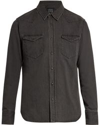 Kuro - Zoro Western Denim Shirt - Lyst