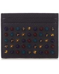 Christian Louboutin - Kios Simple Spike Leather Cardholder - Lyst