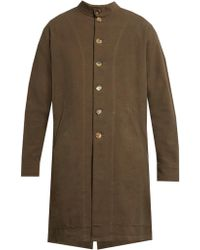 By Walid - Sam Antique-linen Collarless Coat - Lyst