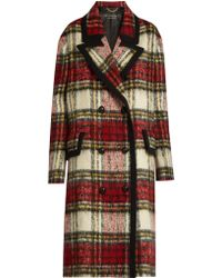 Burberry Prorsum - Peak-lapel Checked Wool-blend Coat - Lyst