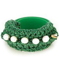 Lucy Folk - Pearl Diver Slap Crochet And Pearl Bracelet - Lyst