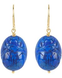 Aurelie Bidermann - Lapis Lazuli & Yellow-gold Earrings - Lyst