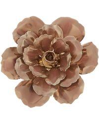 Alexander McQueen - Flower Enamel-coated Brass Brooch - Lyst
