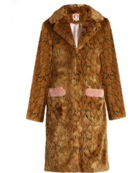 Shrimps - Claude Leopard-print Faux-fur Coat - Lyst