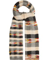 Missoni - Checked Wool Blend Scarf - Lyst