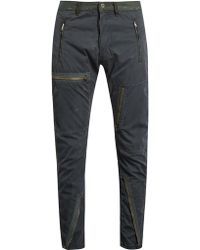 Longjourney - Flight Distressed Cotton-twill Trousers - Lyst