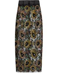 Sophie Theallet - Mari Sequin-embellished Embroidered-lace Skirt - Lyst