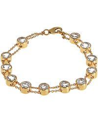 Theodora Warre - Topaz And Gold-plated Bracelet - Lyst