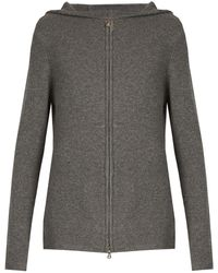 Denis Colomb - Zip-through Hooded Cashmere Sweater - Lyst