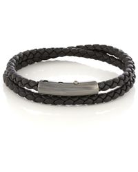 Bottega Veneta - Intrecciato Double Leather Bracelet - Lyst