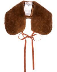 RED Valentino - Fur Collar - Lyst