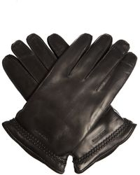 Giorgio Armani | Leather And Suede Gloves | Lyst