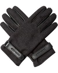 Giorgio Armani | Wool And Leather Gloves | Lyst