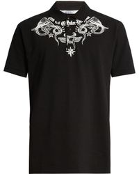 Givenchy - Columbian-fit Tattoo-print Polo Shirt - Lyst
