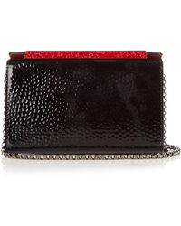 Christian Louboutin - Vanite Hammered Patent-leather Clutch - Lyst