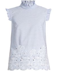 Erdem - Mika Broderie-anglaise Cotton Top - Lyst