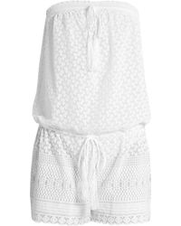 Melissa Odabash - Everly Embroidered Georgette Playsuit - Lyst