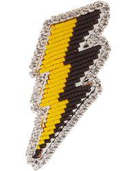 Shourouk - Emojibling Lightning Brooch - Lyst