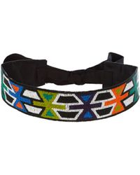 Andrew Gn - Geometric Bead-embellished Belt - Lyst