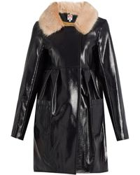 Shrimps - Locket Patent Faux-leather Coat - Lyst