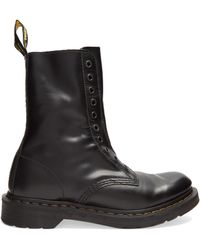 Vetements - X Dr. Martens Boderline Leather Boots - Lyst
