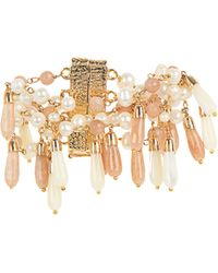 Rosantica By Michela Panero - Pascoli Pearl, Mother-of-pearl, Sunstone Bracelet - Lyst