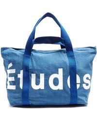 Etudes Studio - May City Logo-print Cotton-piqué Tote - Lyst