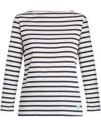 Orcival - Breton-striped Cotton And Silk-blend Top - Lyst