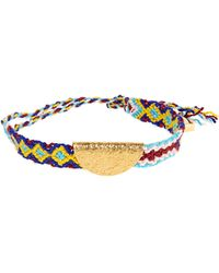 Lucy Folk - Taco Gold-plated Friendship Bracelet - Lyst
