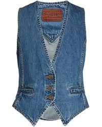 Rockins - Slim-fit Denim Waistcoat - Lyst