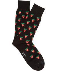 Paul Smith - Strawberry-print Cotton-blend Socks - Lyst