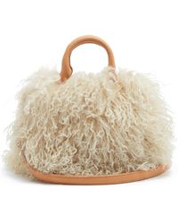 Brother Vellies - Mini Island Shearling Shoulder Bag - Lyst