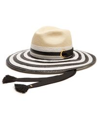 Sonia Rykiel - Striped Straw Hat - Lyst