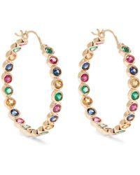 Alison Lou - Emerald, Ruby, Sapphire & Gold Twister Earrings - Lyst