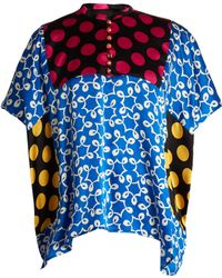 Duro Olowu - Ivy Contrast-panel Silk Top - Lyst