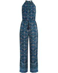 Talitha - Maharaja-print Halterneck Silk-crepe Jumpsuit - Lyst