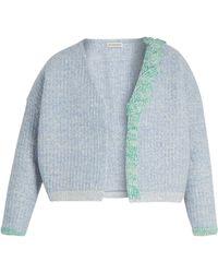 Vika Gazinskaya - Plaited-detail Wool Open Cardigan - Lyst