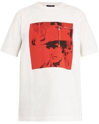 CALVIN KLEIN 205W39NYC - Dennis Hopper-print Cotton-jersey T-shirt - Lyst