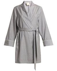 Morpho + Luna - Alix Striped Wool Robe - Lyst