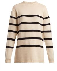 Raey - Loose Fit Breton Cashmere Sweater - Lyst