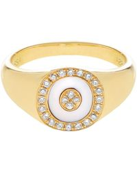 Anissa Kermiche - Diamond, Mother-of-pearl & Yellow-gold Ring - Lyst