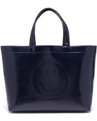 Anya Hindmarch - Smiley Patent Leather Tote - Lyst