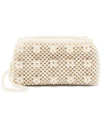 Shrimps - Molly Faux Pearl-embellished Clutch Bag - Lyst
