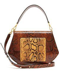Wandler Al Mix Python Effect Leather Cross Body Bag - Brown