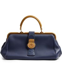 Burberry - Trench Bi-colour Textured-leather Bowling Bag - Lyst